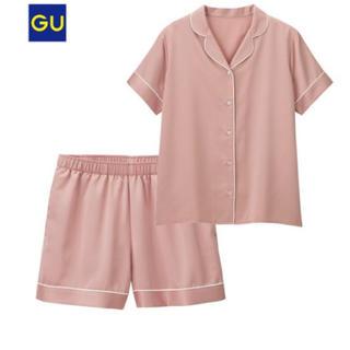 ジーユー(GU)のGU パジャマサテン(半袖)ショートPT(パジャマ)