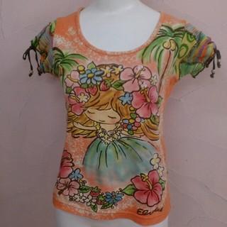 エルロデオ(EL RODEO)のEL RODEO エルロデオ  手書き 女の子 ハイビスカス (Tシャツ(半袖/袖なし))