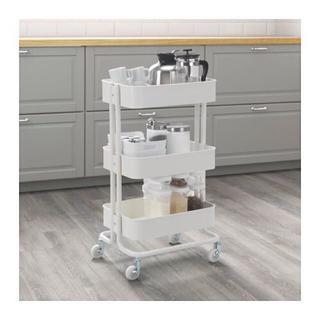 イケア(IKEA)の【IKEA】 RASKOG - キッチンワゴン, ホワイト(キッチン収納)