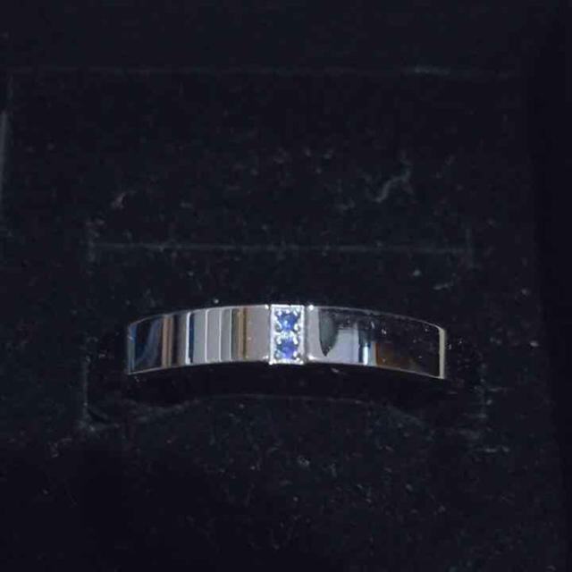 サージカルステンレスリング ブルージルコン 19号 メンズのアクセサリー(リング(指輪))の商品写真
