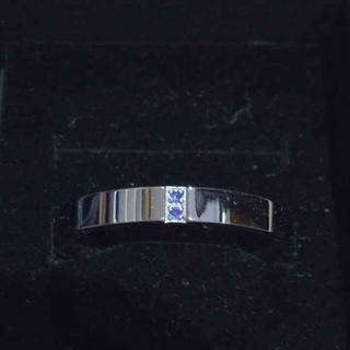 サージカルステンレスリング ブルージルコン 19号(リング(指輪))