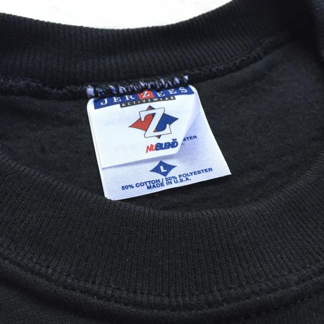 90s usa製 jerzees 新品 スウェット トレーナー 黒  メンズのトップス(スウェット)の商品写真