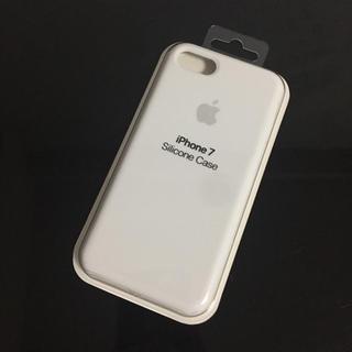 アップル(Apple)のiPhone7 シリコンケース 普通サイズ ホワイト(iPhoneケース)