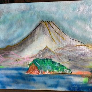 現代美術家、糸川裕志の富士山曼荼羅のポップアートの一点(アート/エンタメ)