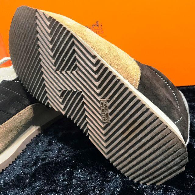 Hermes(エルメス)の【美品】エルメス Hロゴ 35 1/2 クイックスニーカー スエード ブラウン レディースの靴/シューズ(スニーカー)の商品写真