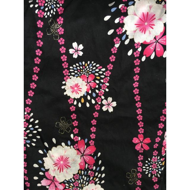 浴衣 ストライプ 花柄 レディースの水着/浴衣(浴衣)の商品写真