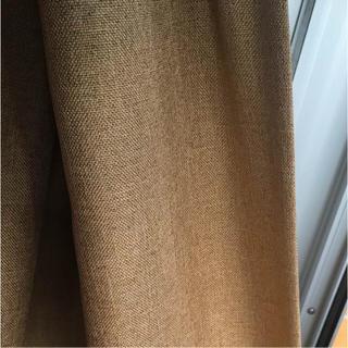 ムジルシリョウヒン(MUJI (無印良品))の無印良品 カーテン マスタードイエロー 100×185(カーテン)