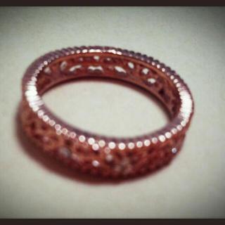 ピンクゴールドのリング♡(リング(指輪))