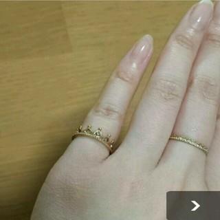 ノジェス(NOJESS)の10k  クラウン ピンキーリング (リング(指輪))