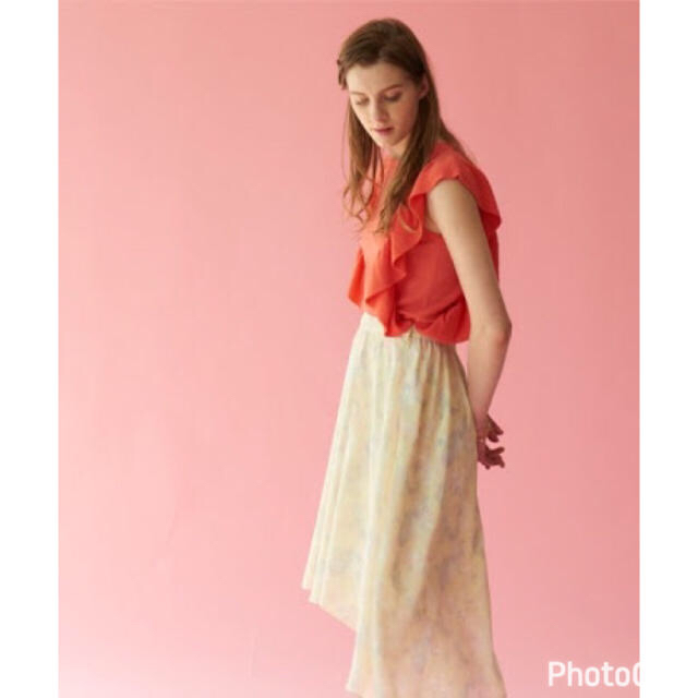 Supreme.La.La.(シュープリームララ)のシュープリームララ◆ペイズリーロングスカート◆フレアスカート◆イエロー 美品 レディースのスカート(ひざ丈スカート)の商品写真