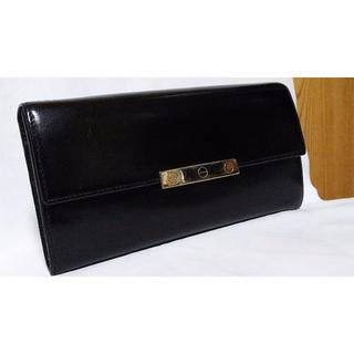 02082647b45e カルティエ(Cartier)の正規良 カルティエ ラブ プレートアイコン ブラックレザー 長財布黒