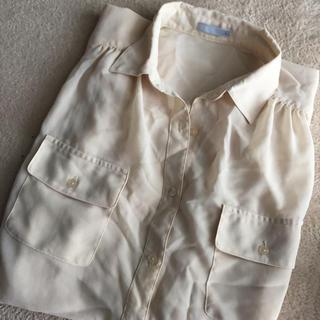 ジーユー(GU)のシースルー シャツ(シャツ/ブラウス(半袖/袖なし))