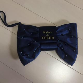 メゾンドフルール(Maison de FLEUR)の♥︎値下げ♡Maiso de FLEUR リボンクポーチ(クラッチバッグ)