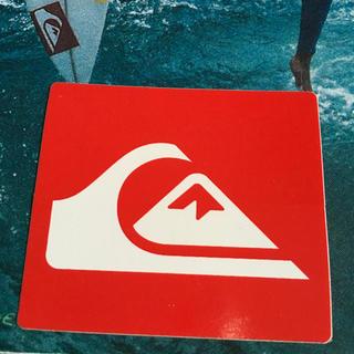 クイックシルバー(QUIKSILVER)のQUIKSILVERクイックシルバーUS限定RED iconステッカー(サーフィン)
