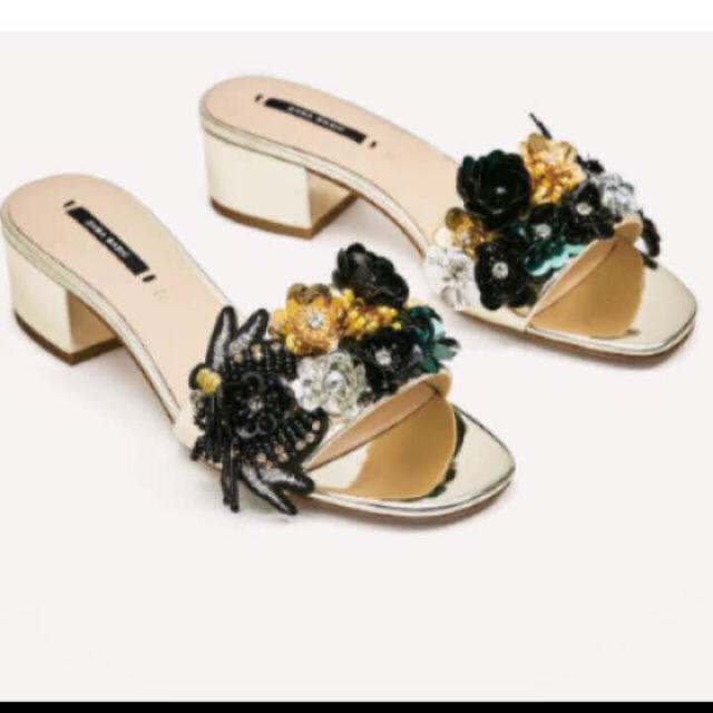 ZARA(ザラ)のZARA ビーズ サンダル 35サイズ レディースの靴/シューズ(