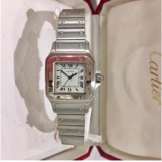カルティエ(Cartier)の美品✨カルティエ Cartier サントスレディース シルバー 腕時計(腕時計)