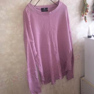 ハレ(HARE)のHARE ピンク ロングTシャツ 長袖(Tシャツ(長袖/七分))
