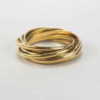カルティエ(Cartier)のカルティエ  トリニティリング7連リング 750スリーカラーゴールド【中古】(リング(指輪))