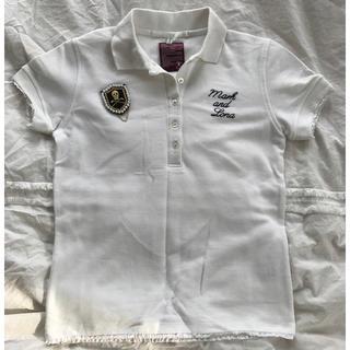 マークアンドロナ(MARK&LONA)のMARK&LONA ブローチ付ポロシャツ 美品(ウエア)