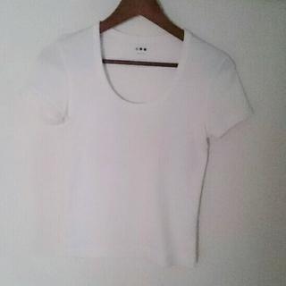 ドゥロワー(Drawer)のスリードット Tシャツ  SMALL ホワイト(Tシャツ(半袖/袖なし))
