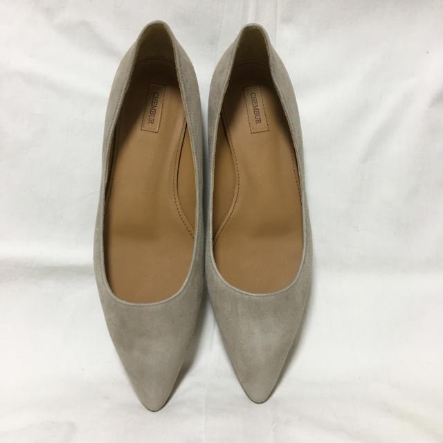 Pippi(ピッピ)のエリオ様 専用 CHEMBUR チェンバー 未使用 パンプス ベージュ36 レディースの靴/シューズ(ハイヒール/パンプス)の商品写真