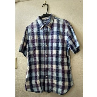 シュガーケーン(Sugar Cane)のSUGARCANEシュガーケーン/日本製/半袖チェックシャツ/Mサイズ (シャツ)