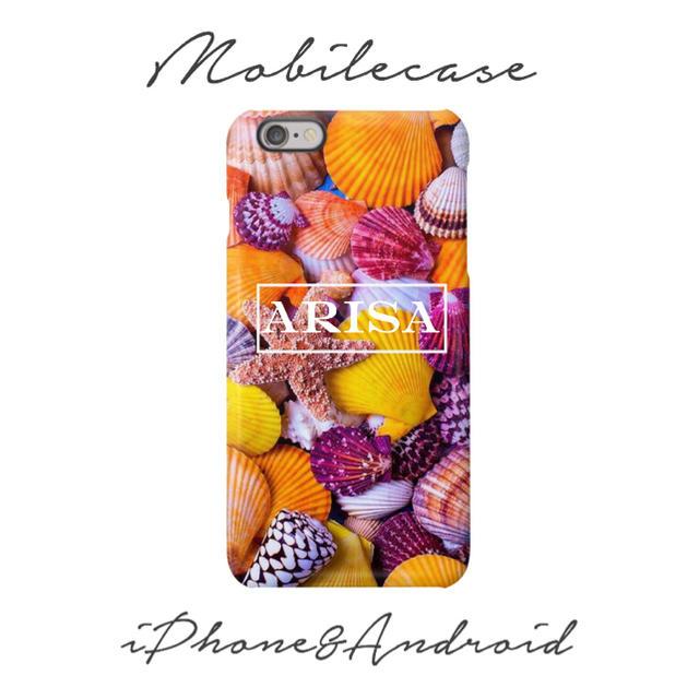 フェンディ iphone8 ケース 人気 | 名入れ可能♡カラフルシェル柄スマホケース♡iPhone以外も対応機種多数あり♡の通販 by welina mahalo|ラクマ