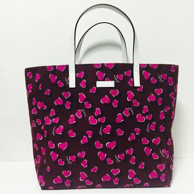 on sale 01b82 2f1f4 美品 GUCCI グッチ ハート柄 トート バッグ キャンバス GG ピンク | フリマアプリ ラクマ