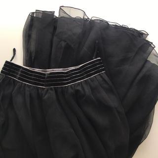 ロキエ(Lochie)の古着ビンテージベロアシフォンスカート○(ロングスカート)