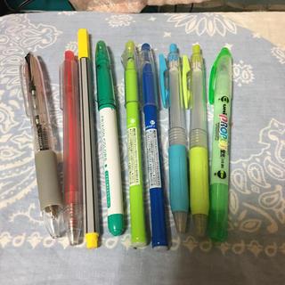 ムジルシリョウヒン(MUJI (無印良品))のペン9本まとめ売り(ペン/マーカー)