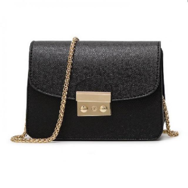 大人気 ☆チェーンショルダー ミニバッグ ☆メトロポリス風 ☆ブラック レディースのバッグ(ショルダーバッグ)の商品写真