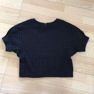 ジーユー(GU)のG.U ストライプ ブラウス(シャツ/ブラウス(半袖/袖なし))
