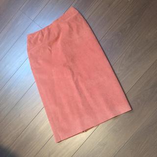 デミルクスビームス(Demi-Luxe BEAMS)のデミルクスビームス スエードスカート テラコッタカラーが秋にぴったり(ひざ丈スカート)