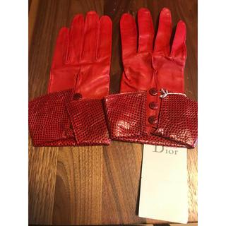 クリスチャンディオール(Christian Dior)の【ちるちるみちるちゃん様専用】Christian Dior 革手袋(手袋)