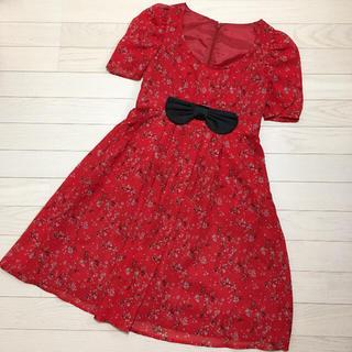 【未使用】OTTO ドレス ワンピース 赤 レディース S(ひざ丈ワンピース)