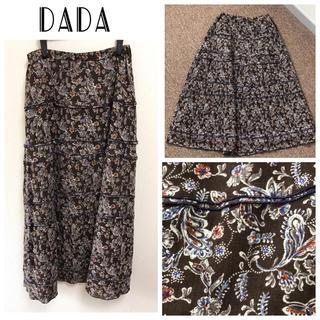 ダダ(DADA)のDADA 定価15000円 上品花柄スカート(ロングスカート)
