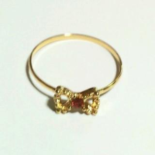 笹大セール様★専用      ほぼ未使用の可愛いリボンのピンキーリング(リング(指輪))