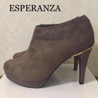 エスペランサ(ESPERANZA)の新品 ¥10,584✨エスペランサ♡ゴールドラインブーティー(ブーティ)