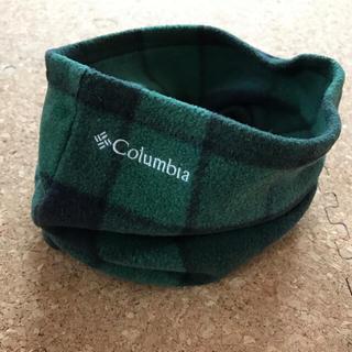 コロンビア(Columbia)のColumbia コロンビア ネックウォーマー グリーンチェック柄(ネックウォーマー)