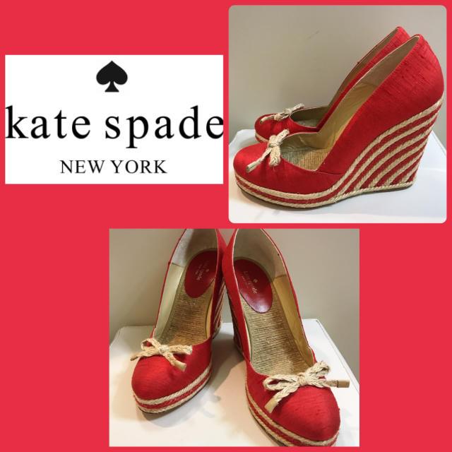 kate spade new york(ケイトスペードニューヨーク)のケイトスペード♡レッドボーダー パンプス♡ レディースの靴/シューズ(ハイヒール/パンプス)の商品写真