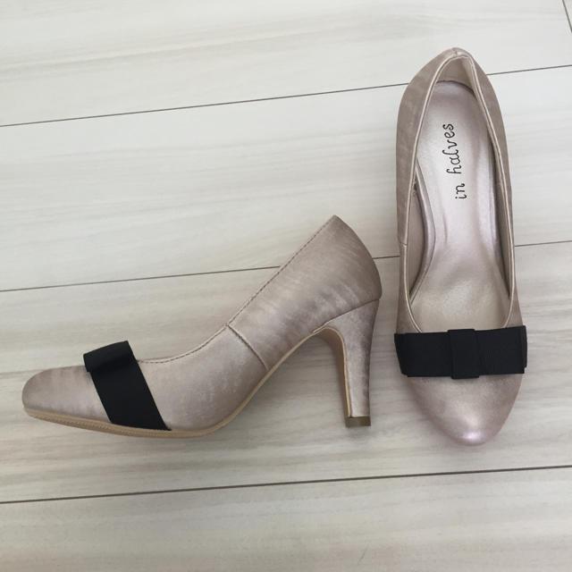 新品 ベージュパンプス レディースの靴/シューズ(ハイヒール/パンプス)の商品写真