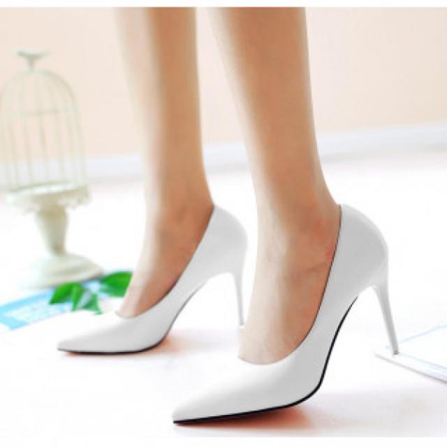 【新作】ハイヒール パンプス ホワイト レディースの靴/シューズ(ハイヒール/パンプス)の商品写真