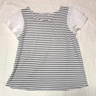 シマムラ(しまむら)のしまむらの半袖ボーダーカットソーTシャツ♡Mネイビーとホワイト(カットソー(半袖/袖なし))