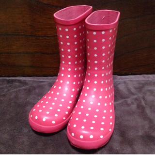 クミキョク(kumikyoku(組曲))の新品未使用☆KUMIKYOKU 組曲 長靴 レインブーツ23cm ピンク ドット(レインブーツ/長靴)