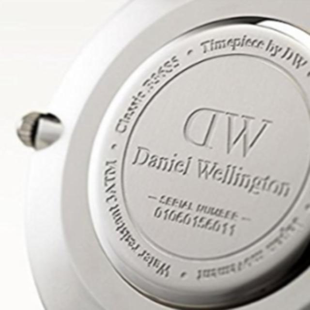 Daniel Wellington(ダニエルウェリントン)のDW00100133 ダニエルウェリントン 40mm シルバー メンズの時計(レザーベルト)の商品写真