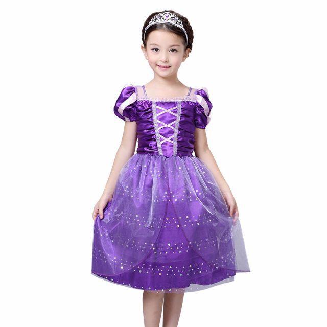 ae0b2b4de645b Lサイズ ディズニー 塔の上のラプンツェル ドレス フォーマル 衣装 キッズ ベビー マタニティ