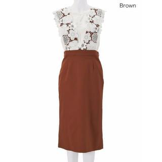 チェスティ(Chesty)の2wayレースブラウンジャンパースカート0size(ひざ丈スカート)