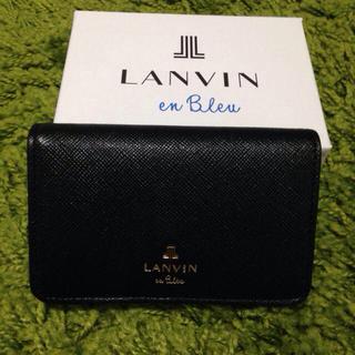 ランバンオンブルー(LANVIN en Bleu)のLANVIN名刺入れ ダークネイビー(名刺入れ/定期入れ)