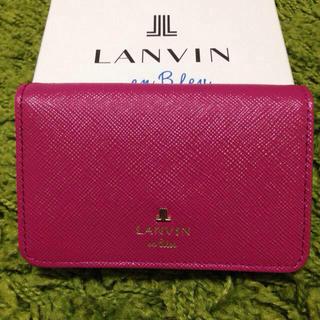 ランバンオンブルー(LANVIN en Bleu)のLANVIN名刺入れ ピンク(名刺入れ/定期入れ)