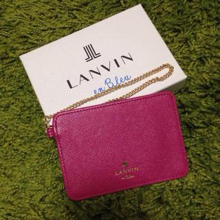 ランバンオンブルー(LANVIN en Bleu)のLANVIN定期入れ ピンク(名刺入れ/定期入れ)